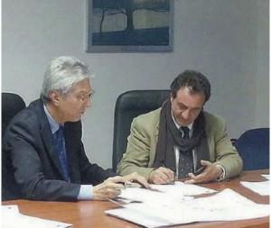 Felice Bonanno e Gaetano Conti Nibali firmano la convenzione (Foto Gazzetta del Sud)