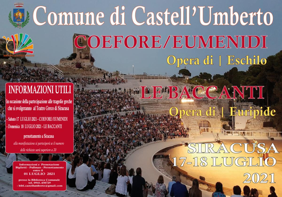 ANDIAMO A TEATRO – Teatro Greco di Siracusa 17-18 LUGLIO 2021
